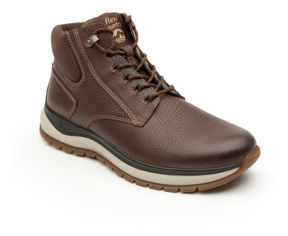 Calzado Zapato Flexi Mod. 401002 Chocolate Caballero