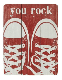 Quadro Decorativo Mdf Colorido 30x40 You Rock - D