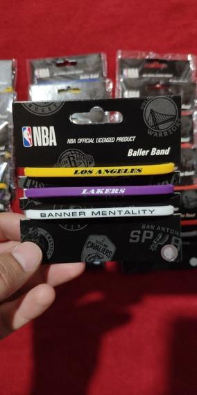 Pulseras De Goma Nba Lakers, Warrios, Boston, Toronto Y Mas