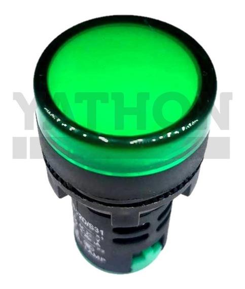 Sinaleiro Led Verde 22mm 220v 10 Peças