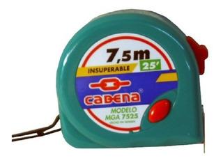 Mga-7525 Flexometro Cadena 7.5 Mt.verde Aqua (72)