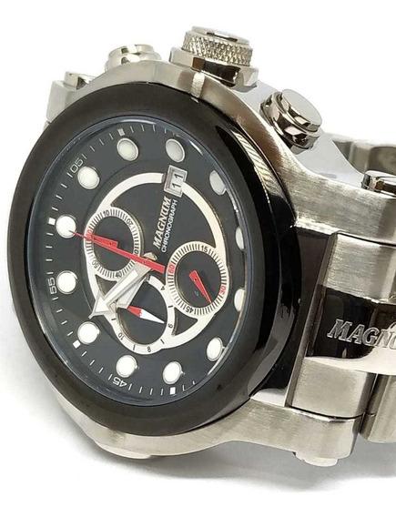 Relógio Magnum Masculino Caixa Grande Cronógrafo - Nfe