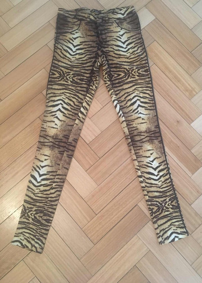 Pantalón Animal Print Mango Mng Talle Xs