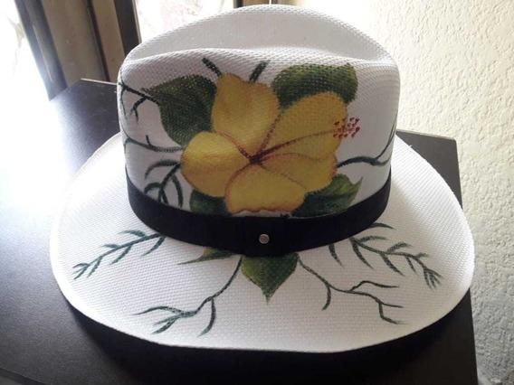 Sombrero Pintado A Mano Artesanale