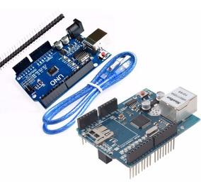 Ethernet Shield W5100 Rede + Arduino Uno R3 Wiznet Mega