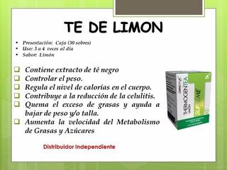 2 Cajas De Thermogen Tea Limon, Suplemento Dietario
