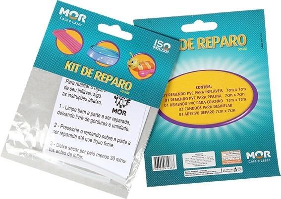 Kit Reparo Para Colchão Inflável Piscina Boias Pvc Mor.