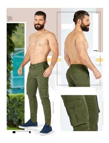 Pantalon Hombre Caballero Slim Fit Tipo Cargo Stretch Mercado Libre