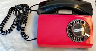 Teléfono Ericsson Diavox De Disco Color Rojo Y Negro