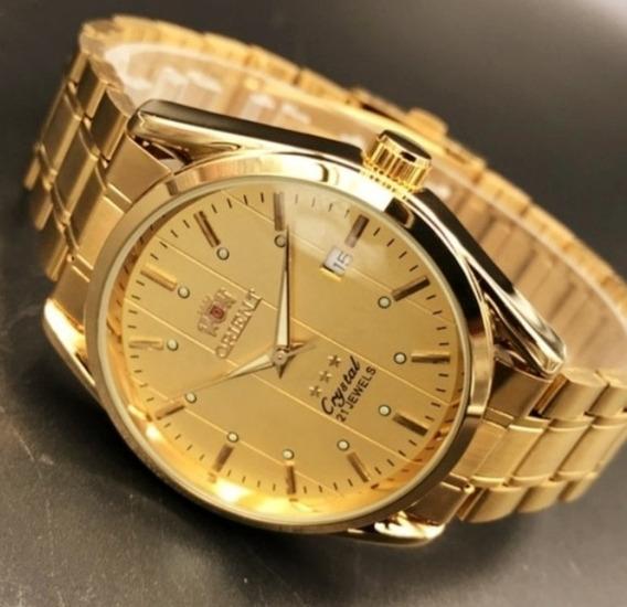 Relógio Dourado Oriente Automático