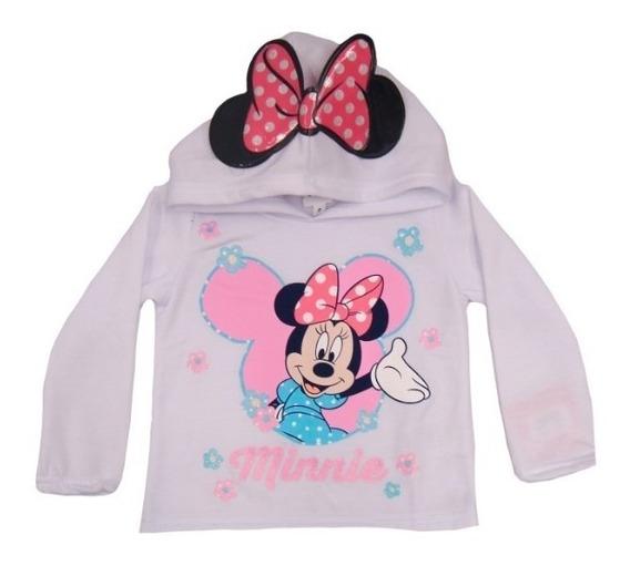 Sudadera Infantil Minnie Mouse Disney Con Gorro Y Orejas De