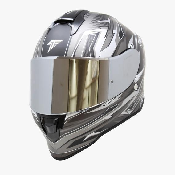 Casco Para Moto Taff Kroon Fragment Mate Gris