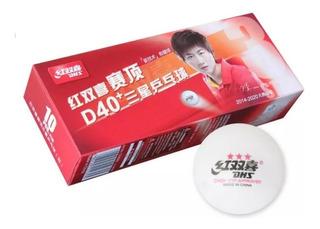 Pelotas Ping Pong Dhs D40+ 3 Estrellas 10 U - Olivos