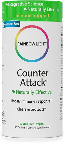 Rainbow Light Counter Attack - Tabletas Para Apoyar Al Siste