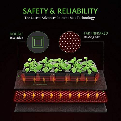 Imagen 1 de 4 de Vivosun Durable Impermeable Seedling Heat Mat Calentamiento