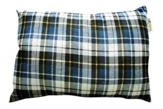 Travesseiro Aflanelado Pillow Xadrez Azul Camping - Echolife