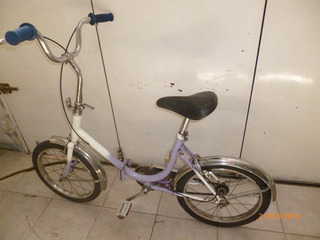 Bicicleta Plegable Rodado 16 Para Niños Andando