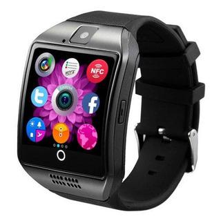 Relógio Smartwatch Q18 Desbloqueado Chip Touch - Preto