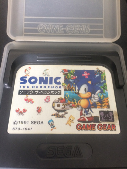 Cartucho Game Gear - Sonic The Hedgehog - (jp)