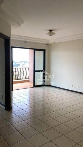 Apartamento Com 4 Dormitórios Para Alugar, 128 M² Por R$ 2.400/mês - Jardim Irajá - Ribeirão Preto/sp - Ap4701