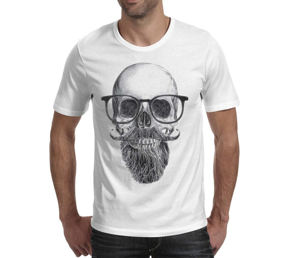 Camiseta Caveira - Branca