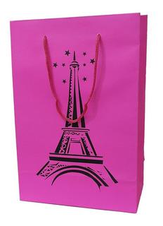 Sacola De Papel Festa Paris 25x17x9cm - 30 Unidades