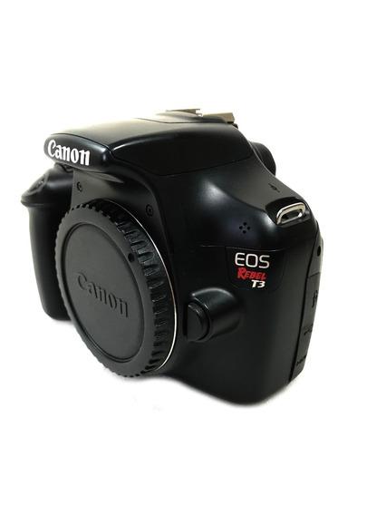 Câmera Canon T3 Corpo Seminova Lojista Ótimo Estado