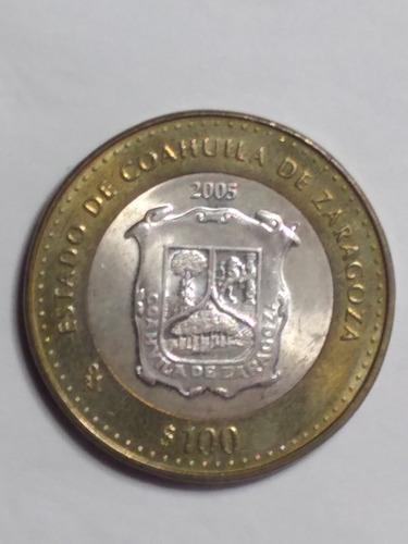 Imagen 1 de 6 de Moneda Bimetalica De $100  De Los 32 Estados 1a. Edicion
