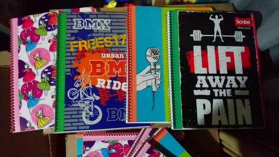 5 Cuaderno / Libreta Profesional Scribe Mega Plus / Estrella