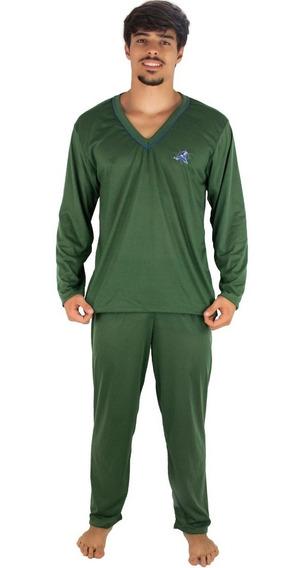 Kit 4 Pijama Masculino Longo Blusa Comprida E Calça Longa
