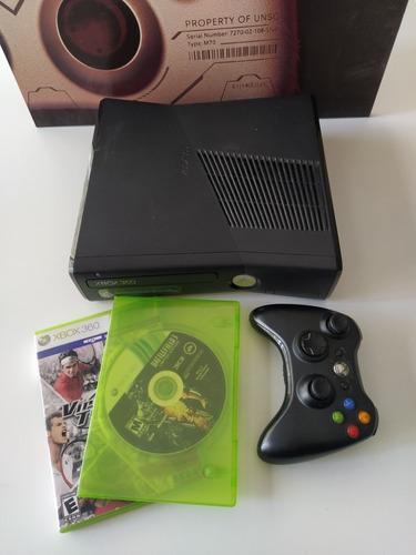Xbox 360 Slim Original + Joystick + 2 Juegos + Fuente 220v