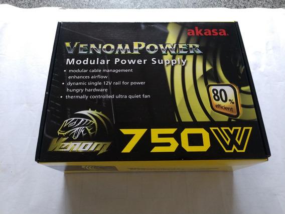 Fonte Atx Venompower Akasa - 750w Reais - R$349,00