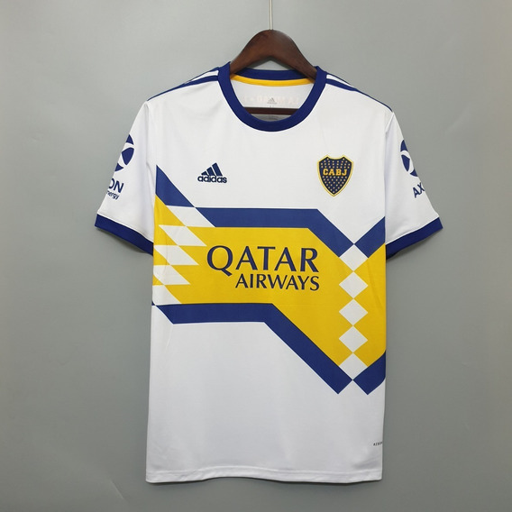 Camisa Club Atlético Boca Juniors 2020/21 Branca Uniforme 2