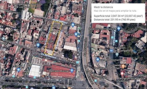 Terreno En Venta En Mixcoac $88,000,000.00 Pesos.