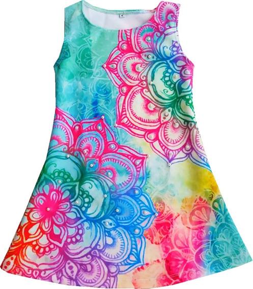 Vestido Para Niña Diseño Mandala - Ig