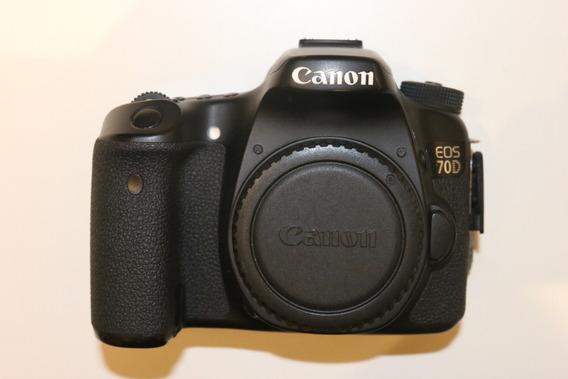 Câmera Digital Dslr Canon Eos 70d + Lente 18-55