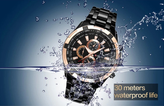 Relógio Curren Original Aço Prova D