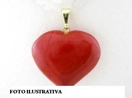 Pingente Coração Jaspe Vermelho - Ativação Sexual