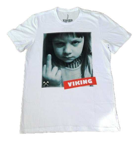 Camiseta Viking Middlefinger Branca