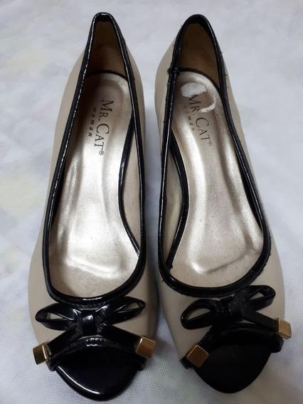 Sapato Peep Toe - Mr Cat - Nº 35