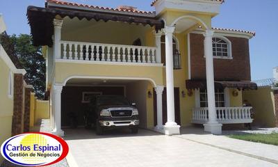 Casa Amueblada 4 Habitaciones De Alquiler En Higuey