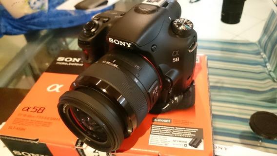 Câmera Profissional Sony Alpha A58 Completa Na Caixa
