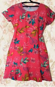 Vestido Tipo Sereia Moda Evangélica Tamanho G1 Vermelho