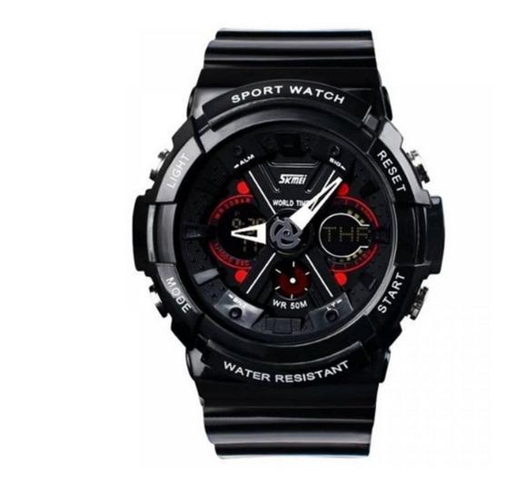 Relógio Masculino Skmei Anadigi 0966 Preto Original