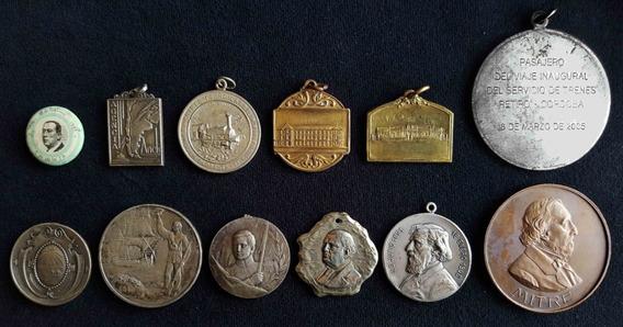 Antiguas Medallas Motivos Varios (el Lote De 12). 58124