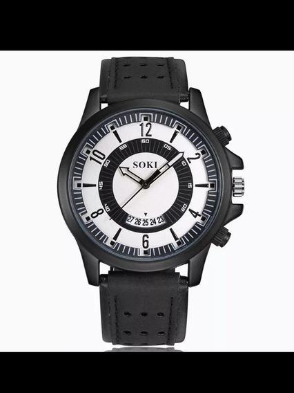 Relógio Masculino Casual De Pulso Preto