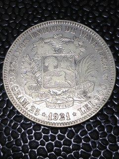 Moneda Fuerte De Plata 1921*30