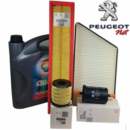 Kit 4 Filtros + Aceite Total 7000 P/ Peugeot Hoggar 1.6 N N