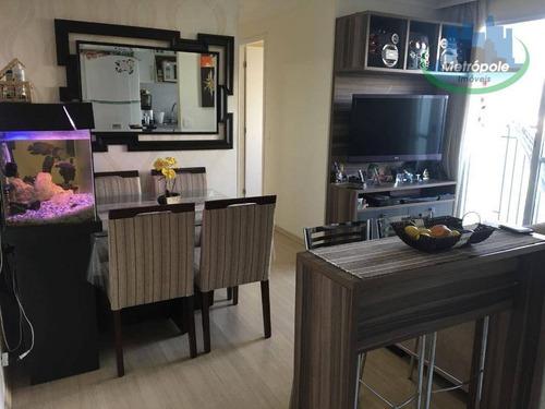 Apartamento Com 3 Dormitórios À Venda, 56 M² Por R$ 290.000 - Cocaia - Guarulhos/sp - Ap1146