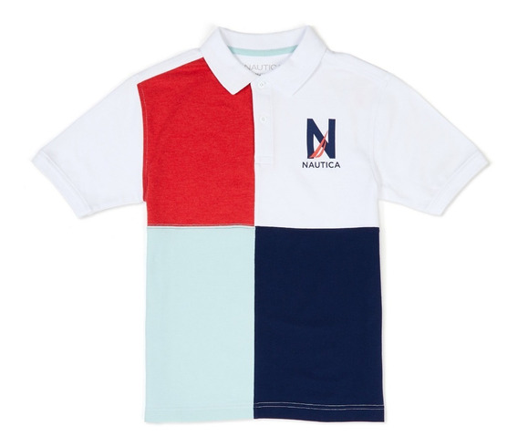 Polo Nautica Playera Nueva Original 100 White Stretch Kids